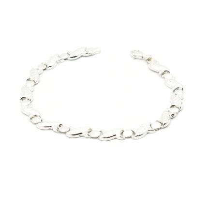 Srebrna bransoletka diamentowana – elegancka