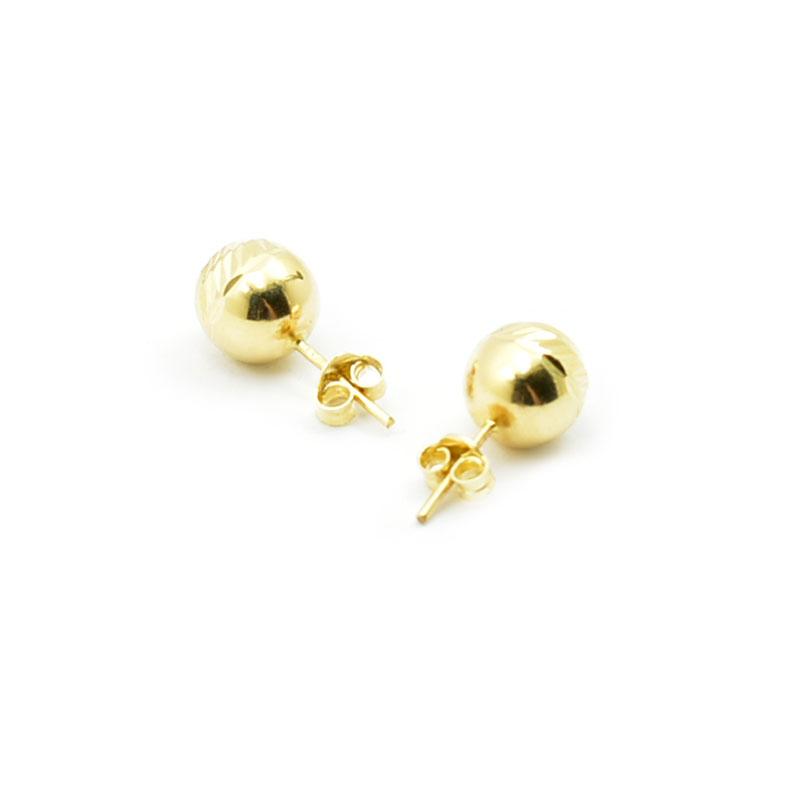 Złote diamentowane kolczyki