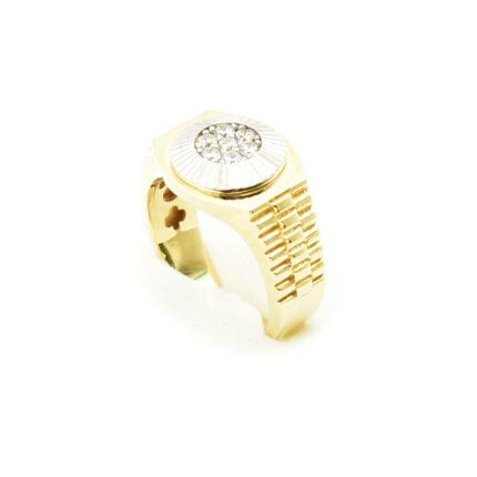 Złoty sygnet 8,70g z cyrkoniami