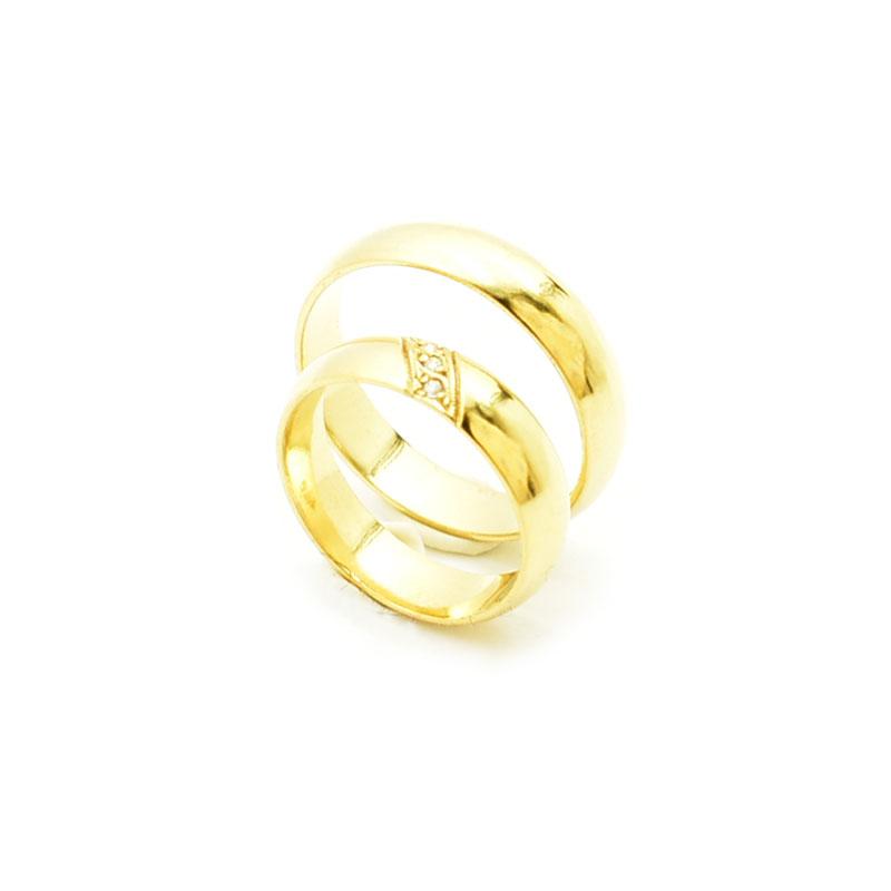 Złote obrączki model m 106