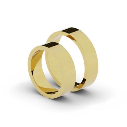 Klasyczne płaskie obrączki ślubne 5,5 mm