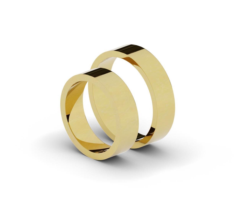 Klasyczne obrączki ślubne o szerokości 5,5 mm.