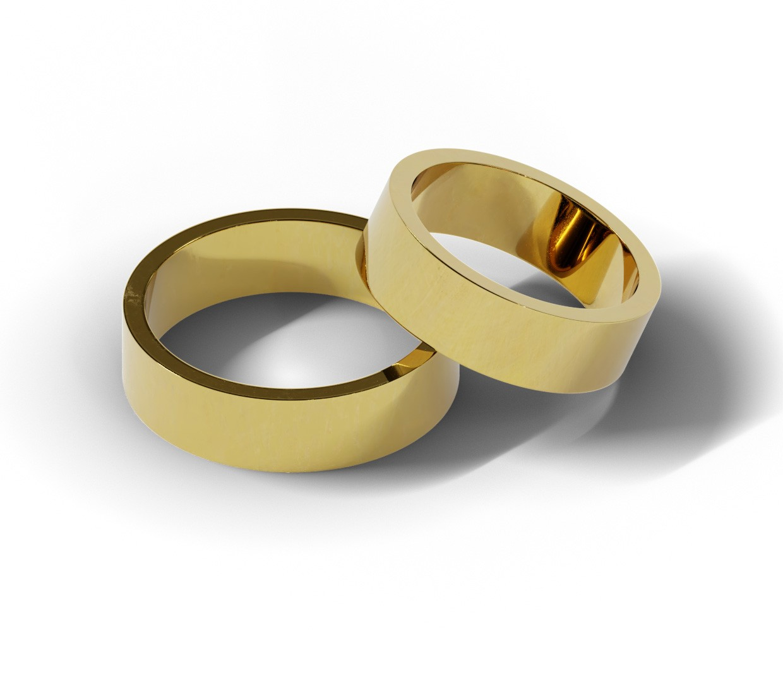 Para klasycznych obrączek ślubnych