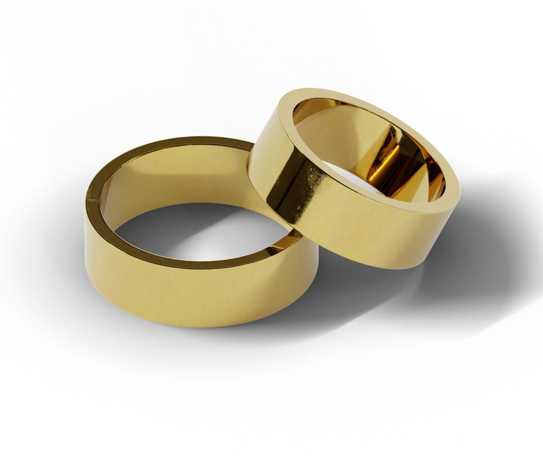 Obrączki ślubne o szerokości 7 mm