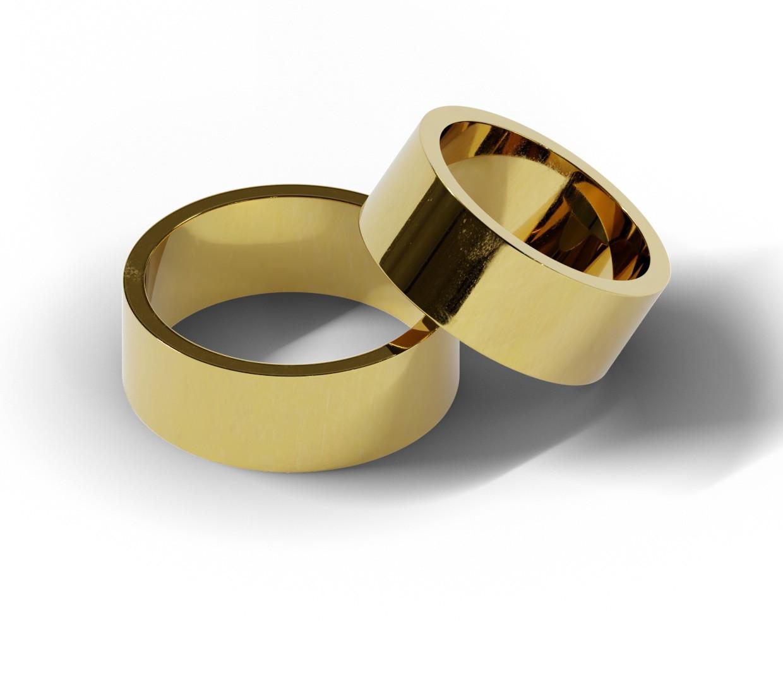 8 mm obrączki ślubne z żółtego złota
