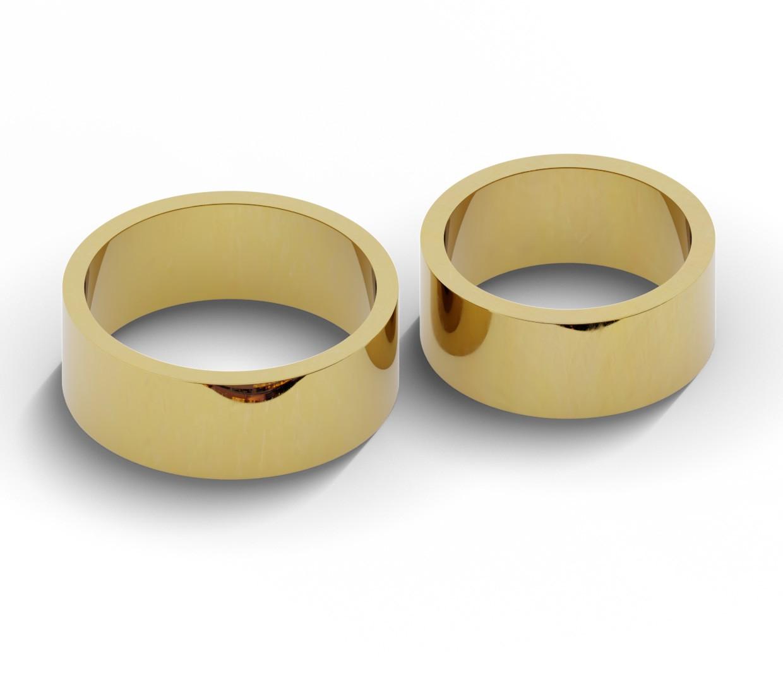Para złotych obrączek 8 mm - płaskich.
