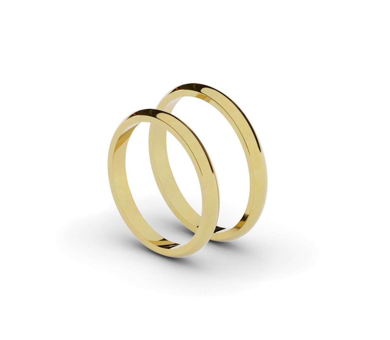 Klasyczne, półokrągłe obrączki ślubne 2,5 mm.