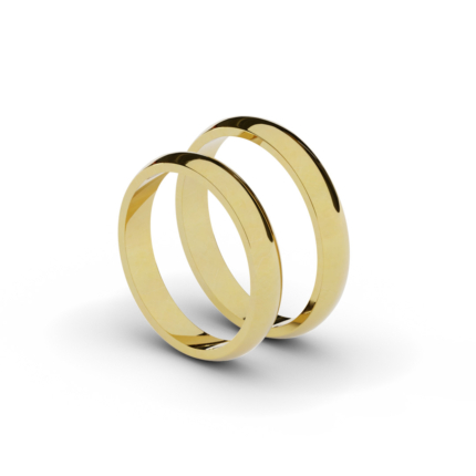 Klasyczne półokrągłe obrączki ślubne 3,5 mm