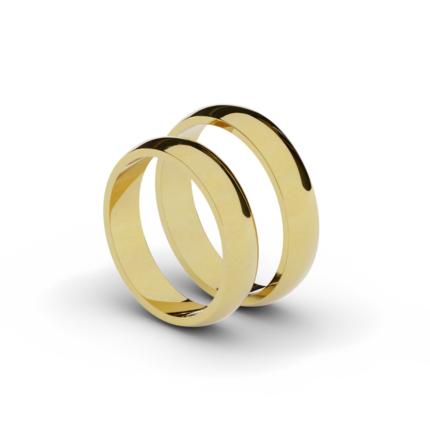 Klasyczne półokrągłe obrączki ślubne 4,5 mm