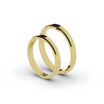 Klasyczne płaskie – ścięte obrączki ślubne 2,5 mm