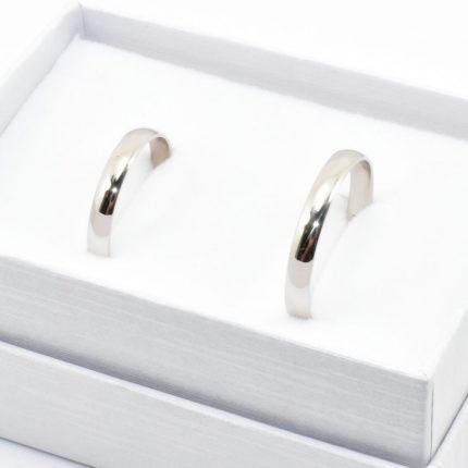 Obrączki ślubne z białego złota