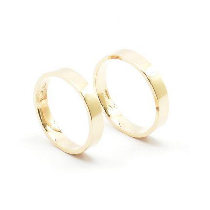 Obrączki ze złota klienta – płaskie 3,5 mm