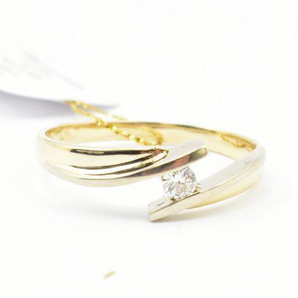 Pierścionek zaręczynowy z brylantem 0,07ct H/Si