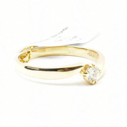 Pierścionek zaręczynowy z diamentem 0,18ct