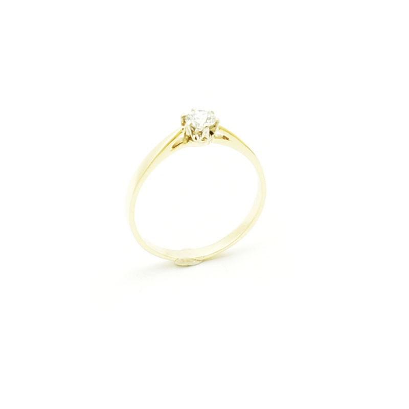 Pierścionek zaręczynowy z brylantem 0,25 ct