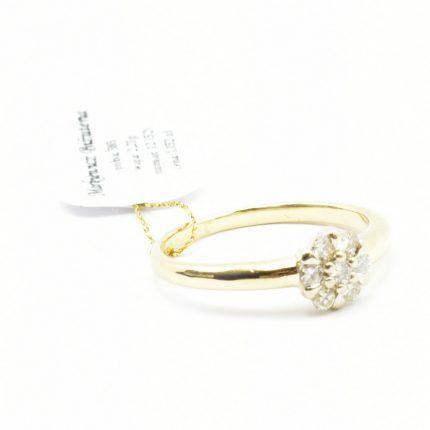 Pierścionek zaręczynowy z brylantami 0,21ct