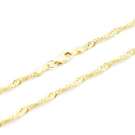 Złoty łańcuszek – singapur 60 cm