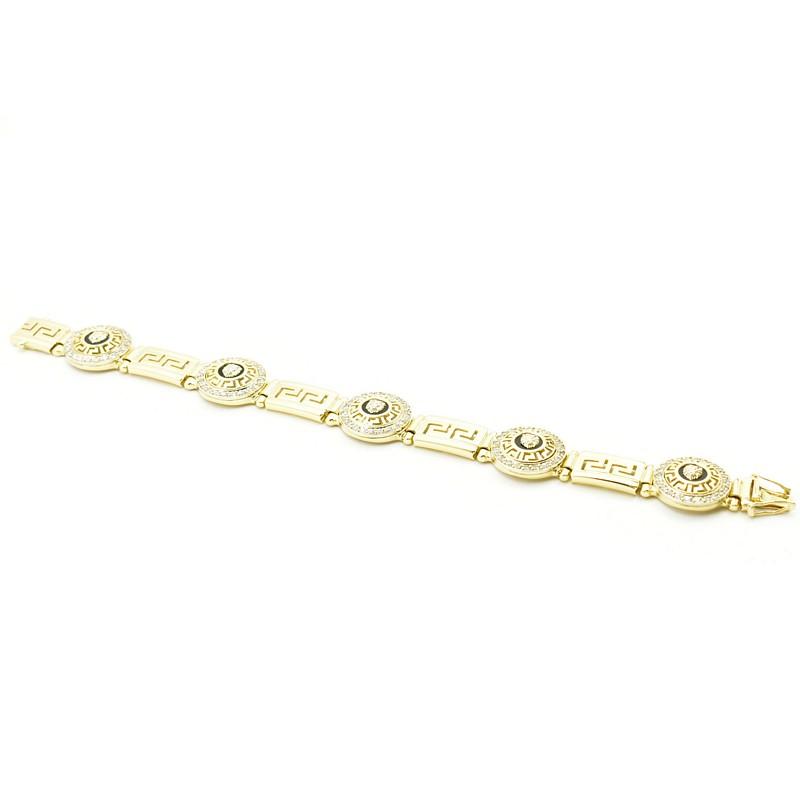 Złota bransoleta z katalogu odlewni Iza - N0327B