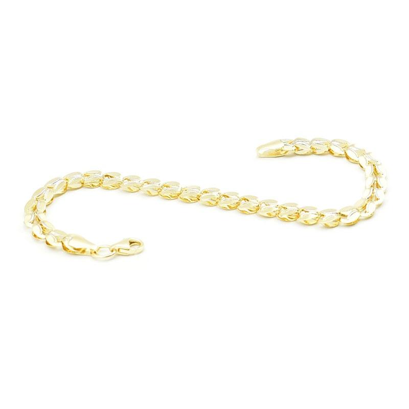 Klasyczna złota bransoletka próby 585.