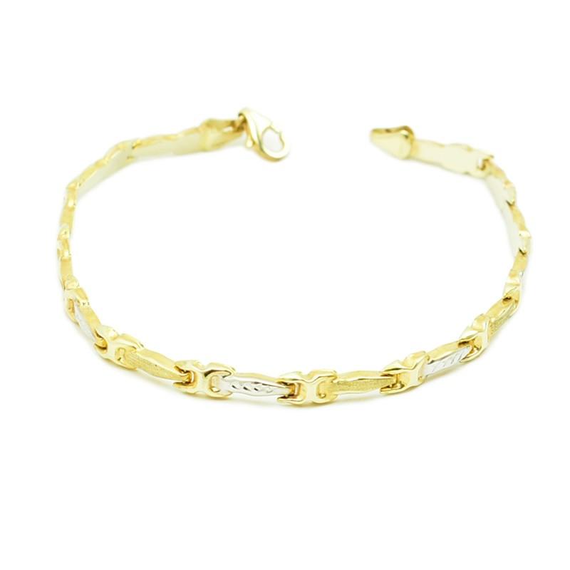 Dęta bransoletka wykonana ze złota próby 585.