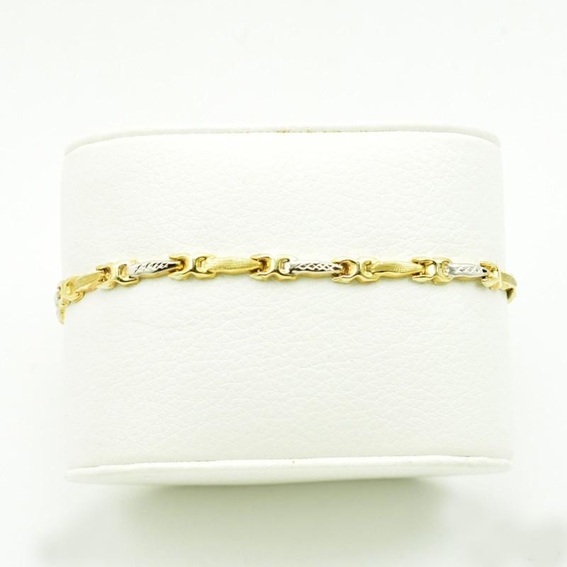 Nowoczesna złota bransoletka ze złota próby 585.