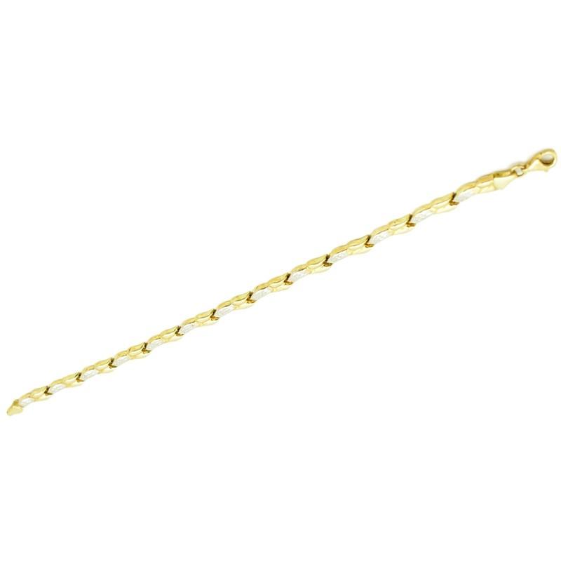 Dmuchana złota bransoletka wykonana z dętych ogniw.