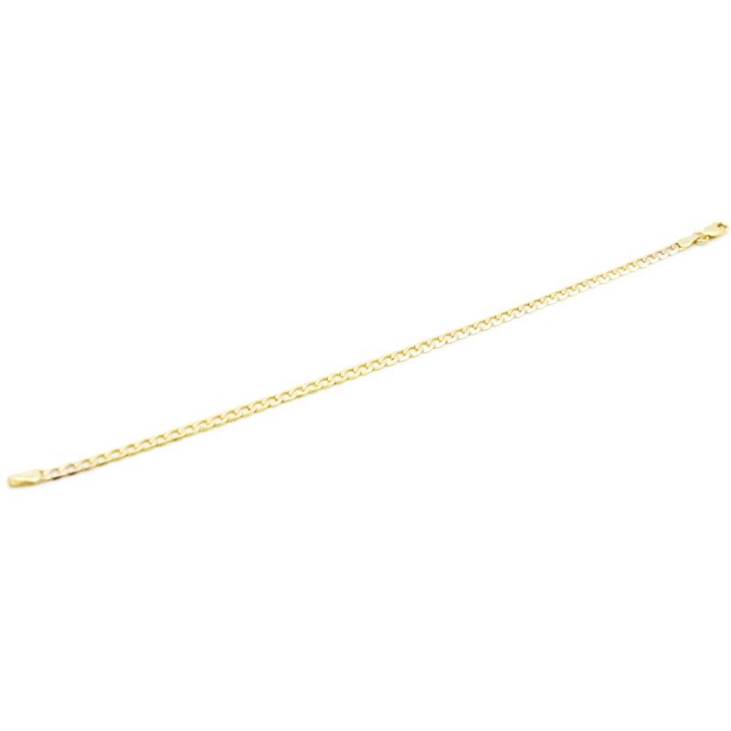 Klasyczna złota pancerka - bransoletka.