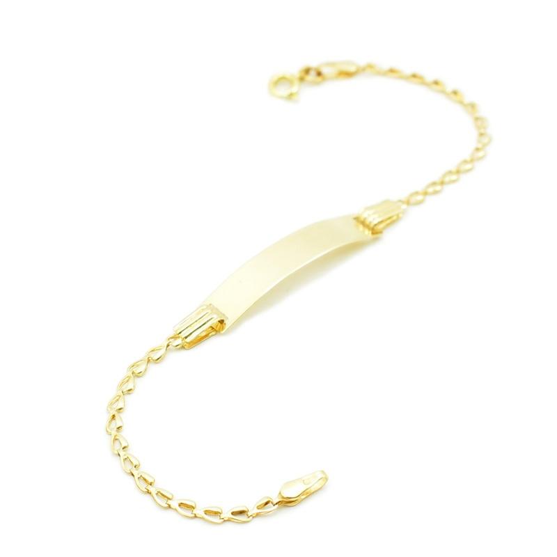 Złota blaszka - bransoletka do grawerowania.