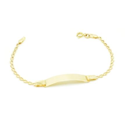 Złota bransoletka z blaszką do grawerowania – 15 cm