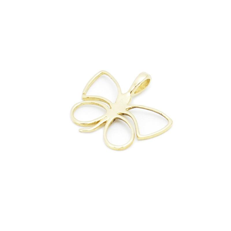 Złota zawieszka -ażurowy motyl