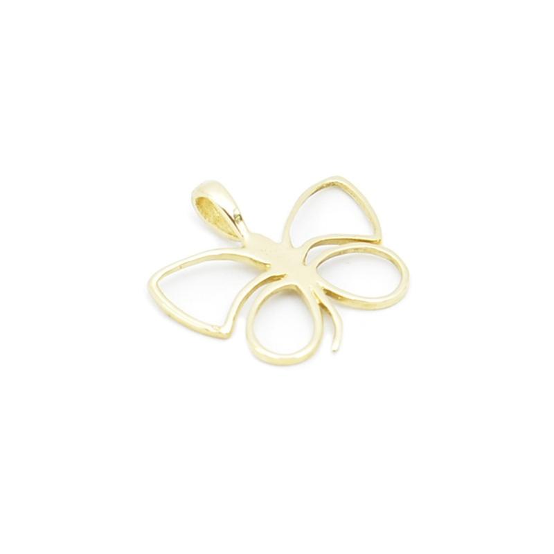 Złoty motyl - ażurowa zawieszka.