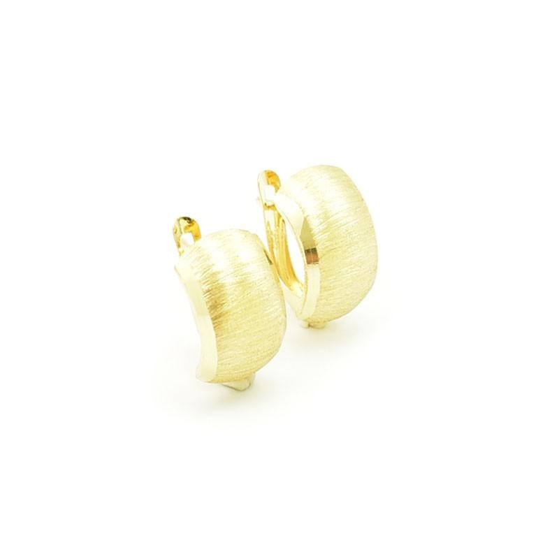 Eleganckie złote pukielki - kolczyki na angielskim zapięciu.