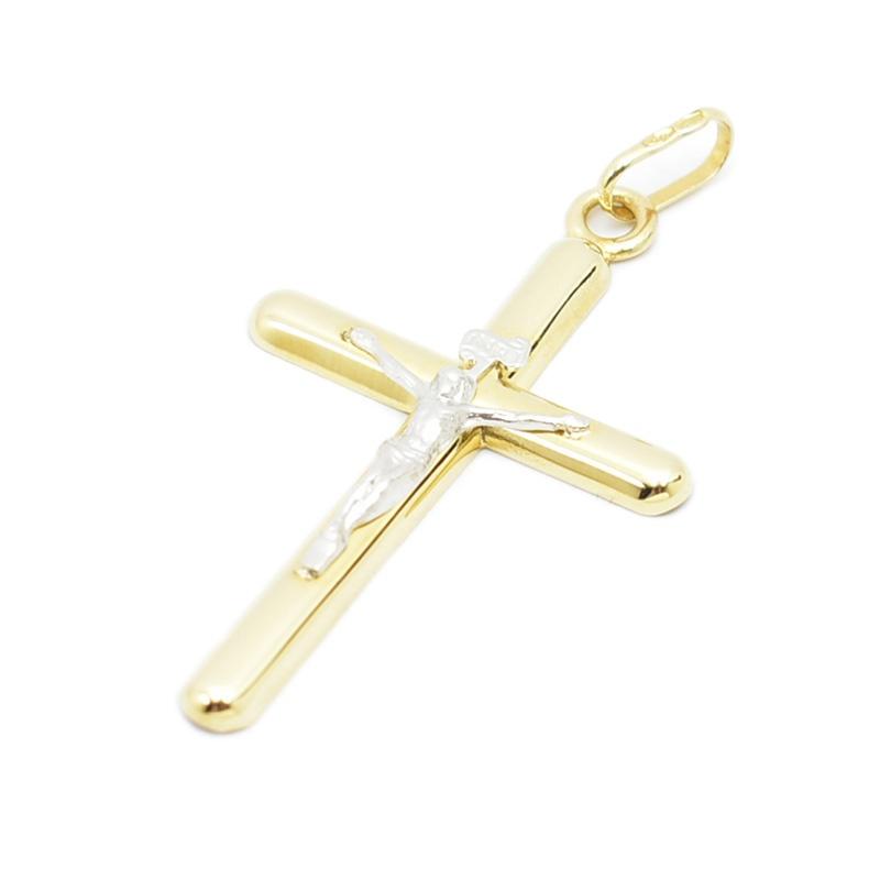 Bardzo lekki krzyżyk ze złota próby 585.