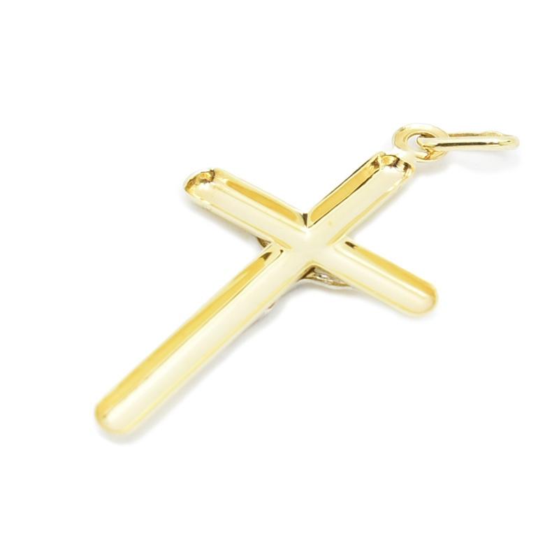 Delikatny złoty krzyżyk - dęty.