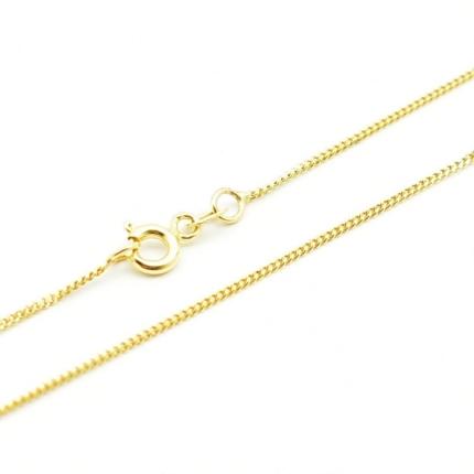Złoty łańcuszek – delikatna Pancerka 40 cm