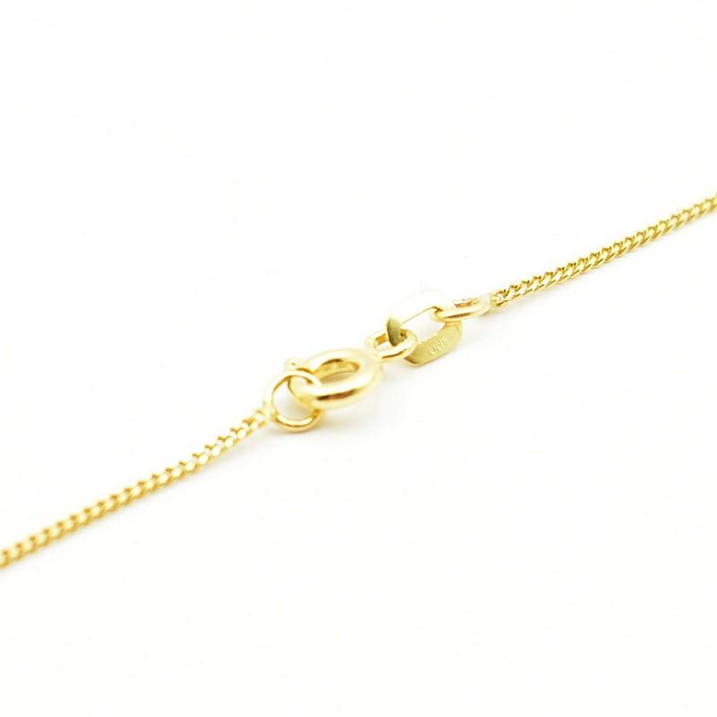 Klasyczny złoty łańcuszek - pancerka.