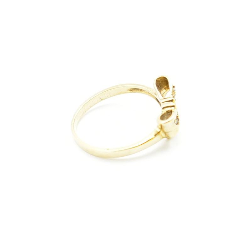Pierścionek kokardka ze złota próby 333