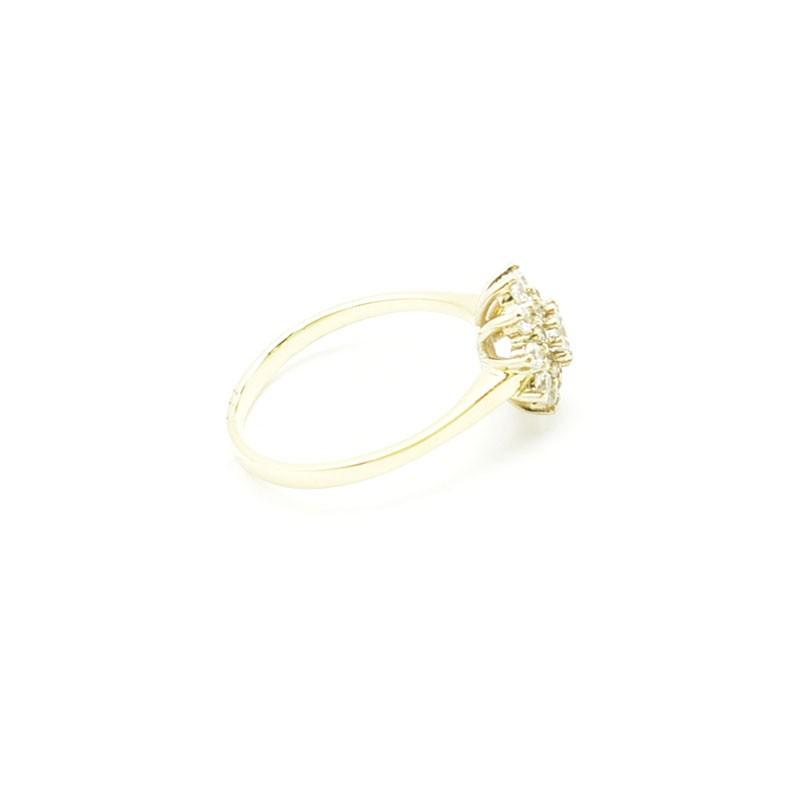 Pierścionek z żółtego złota z białą nakładką
