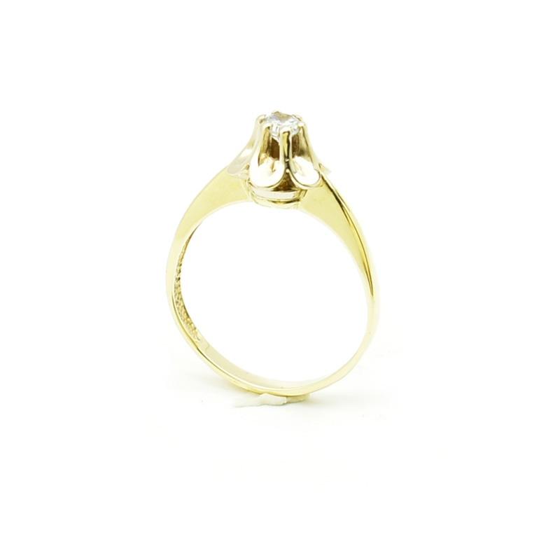 Złoty pierścionek z cyrkonią pb-88
