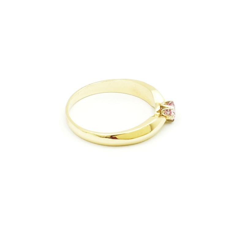 Elegancki pierścionek z różowym topazem 0,32 ct.