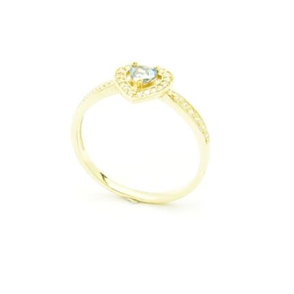 Złoty pierścionek z topazem i cyrkoniami P 1898