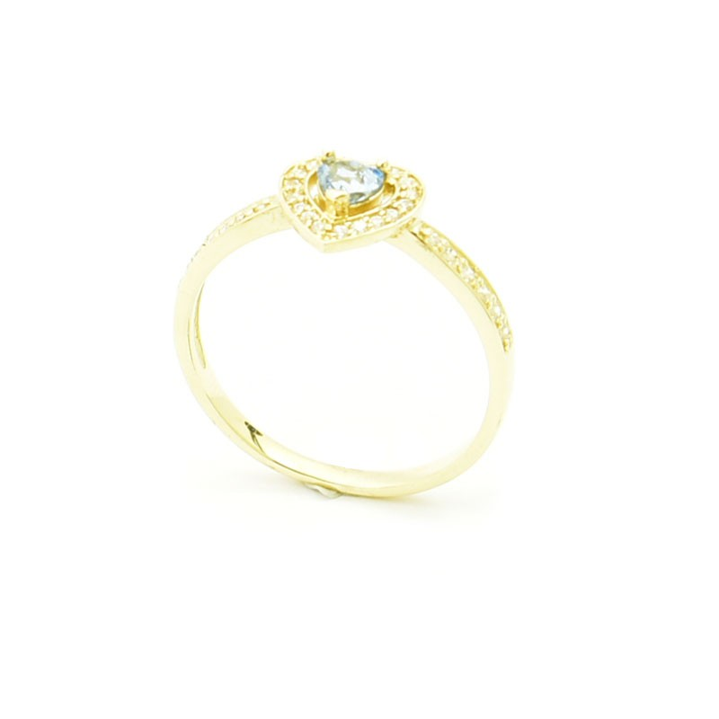 Złoty pierścionek model P1898.
